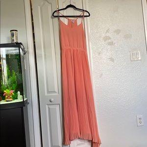 BarIII blush long dress